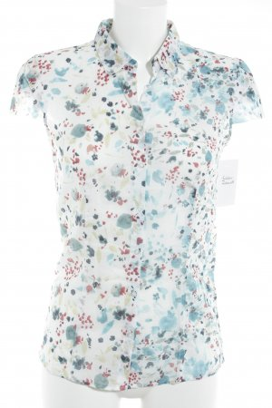 Hugo Boss Kurzarm-Bluse florales Muster Casual-Look