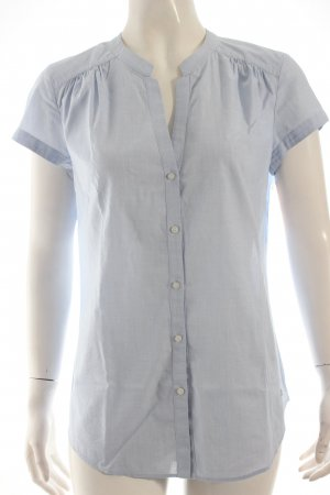Hugo Boss Kurzarm-Bluse hellblau Business-Look