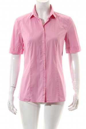 Hugo Boss Kurzarm-Bluse rosa Casual-Look