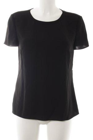 Hugo Boss Kurzarm-Bluse schwarz Elegant