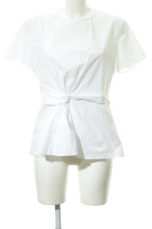 Hugo Boss Blouse met korte mouwen wit zakelijke stijl