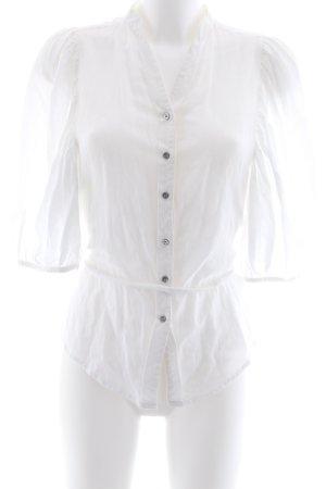 Hugo Boss Short Sleeved Blouse white casual look
