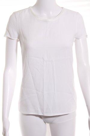 Hugo Boss Kurzarm-Bluse weiß minimalistischer Stil