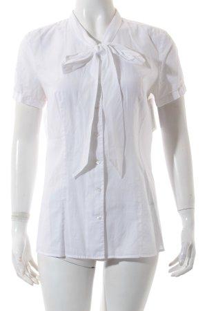 Hugo Boss Kurzarm-Bluse weiß schlichter Stil