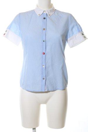 Hugo Boss Camisa de manga corta azul-blanco estampado a rayas