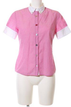 Hugo Boss Camisa de manga corta rosa-blanco estilo «business»