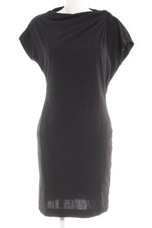 Hugo Boss Kurzarmkleid schwarz minimalistischer Stil