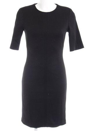 Hugo Boss Robe à manches courtes noir motif rayé élégant