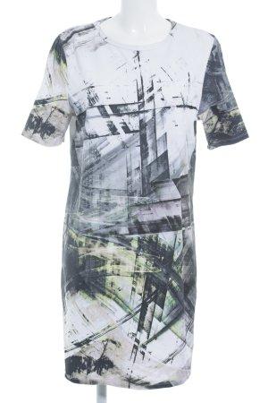 Hugo Boss Kurzarmkleid schwarz-weiß abstraktes Muster Street-Fashion-Look