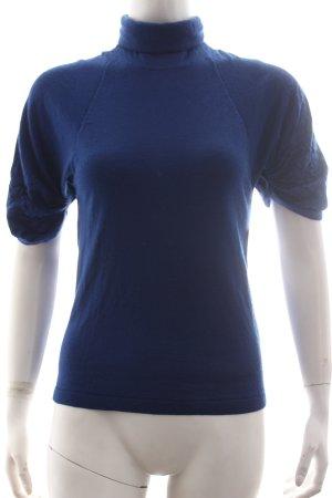 Hugo Boss Kurzarmpullover blau schlichter Stil