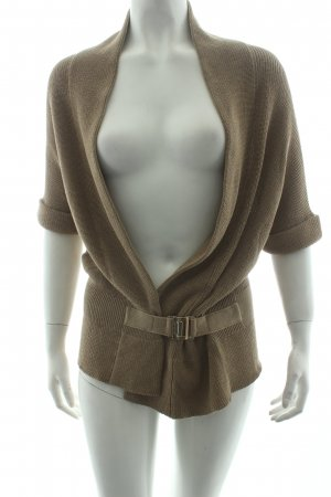 Hugo Boss Kurzarmstrickjacke beige Casual-Look