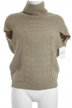 Hugo Boss Short Sleeve Knitted Jacket beige cable stitch casual look