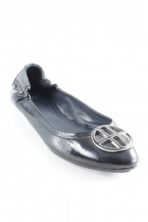 Hugo Boss Patent Leather Ballerinas black elegant