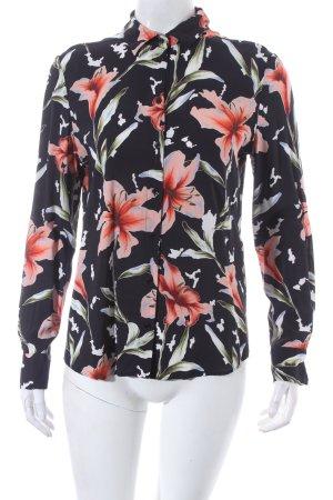 Hugo Boss Langarm-Bluse Blumenmuster Casual-Look