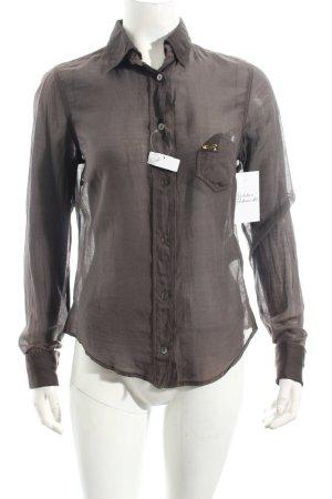 Hugo Boss Langarm-Bluse braun Casual-Look
