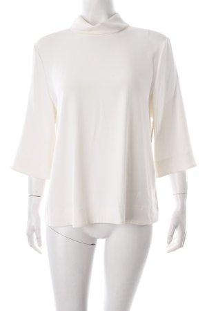 Hugo Boss Langarm-Bluse creme schlichter Stil