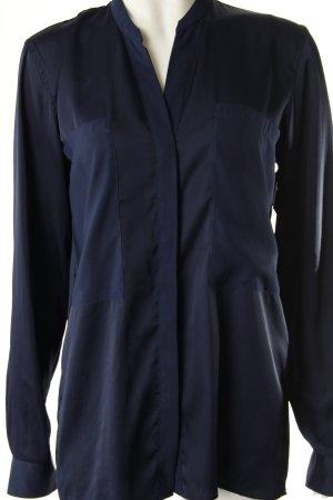 Hugo Boss Langarm-Bluse dunkelblau