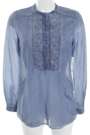 Hugo Boss Langarm-Bluse graublau Casual-Look