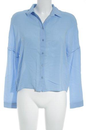 Hugo Boss Langarm-Bluse kornblumenblau Business-Look