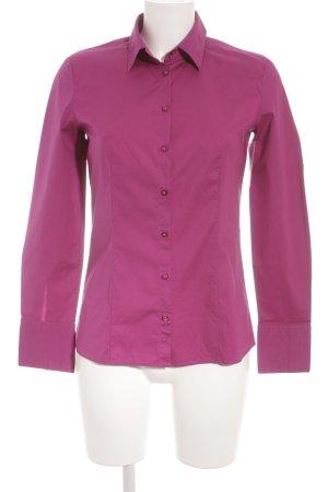 Hugo Boss Langarm-Bluse purpur Business-Look