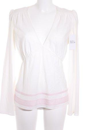 Hugo Boss Langarm-Bluse rosa-weiß klassischer Stil