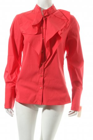 Hugo Boss Langarm-Bluse rot Eleganz-Look