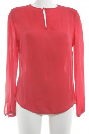 Hugo Boss Langarm-Bluse rot klassischer Stil