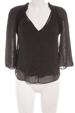 Hugo Boss Langarm-Bluse schwarz Elegant