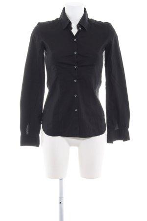 Hugo Boss Langarm-Bluse schwarz schlichter Stil