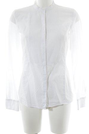 Hugo Boss Langarm-Bluse weiß Elegant