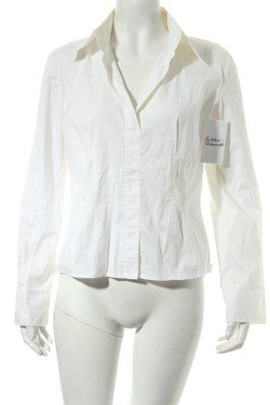 Hugo Boss Langarm-Bluse weiß klassischer Stil