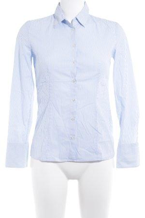 Hugo Boss Langarmhemd weiß-himmelblau Streifenmuster Business-Look