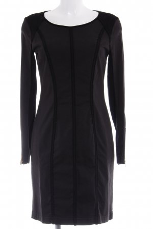 Hugo Boss Langarmkleid schwarz Inside-Out-Druck Business-Look