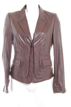 Hugo Boss Leather Blazer light brown-brown casual look
