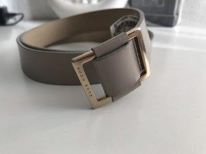 Hugo Boss Cintura di pelle marrone-grigio-oro