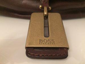 Hugo Boss Borsa con manico marrone scuro