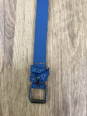 Hugo Boss Leather Belt blue
