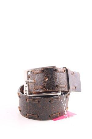 Hugo Boss Cinturón de cuero color bronce look de segunda mano