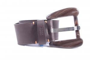Hugo Boss Leather Belt dark brown classic style