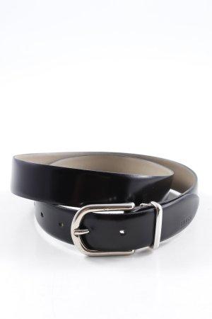 Hugo Boss Leather Belt black simple style