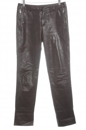 Hugo Boss Lederhose braun Casual-Look