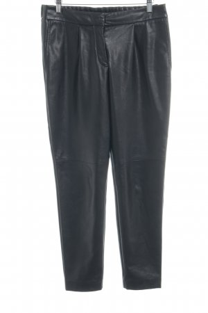 Hugo Boss Pantalone in pelle nero stile casual