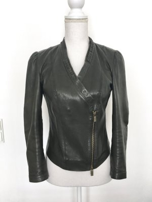 Hugo Boss Leather Jacket anthracite