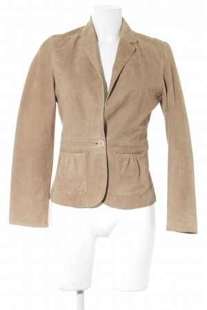 Hugo Boss Lederjacke beige Casual-Look