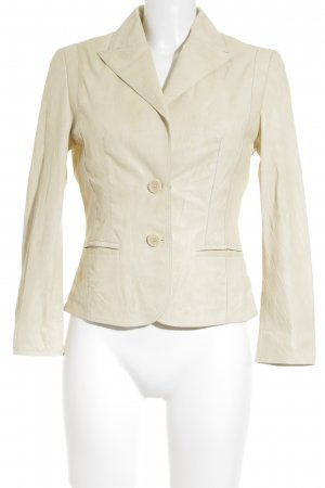 Hugo Boss Lederjacke creme Casual-Look