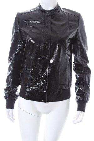 Hugo Boss Lederjacke schwarz extravaganter Stil