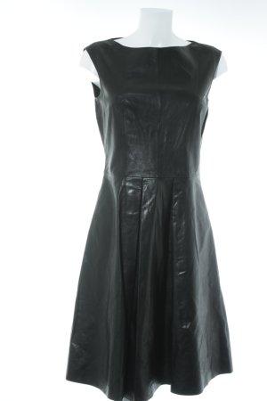 Hugo Boss Lederkleid schwarz Elegant