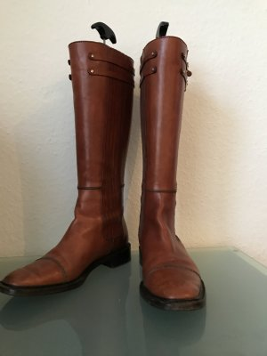 Hugo Boss Riding Boots cognac-coloured