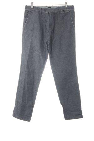Hugo Boss Pantalone di lino grigio scuro-antracite stile professionale