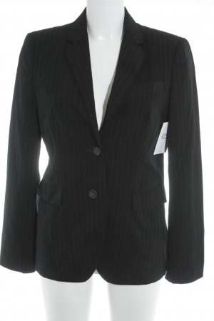 Hugo Boss Long-Blazer schwarz-weiß Nadelstreifen Business-Look